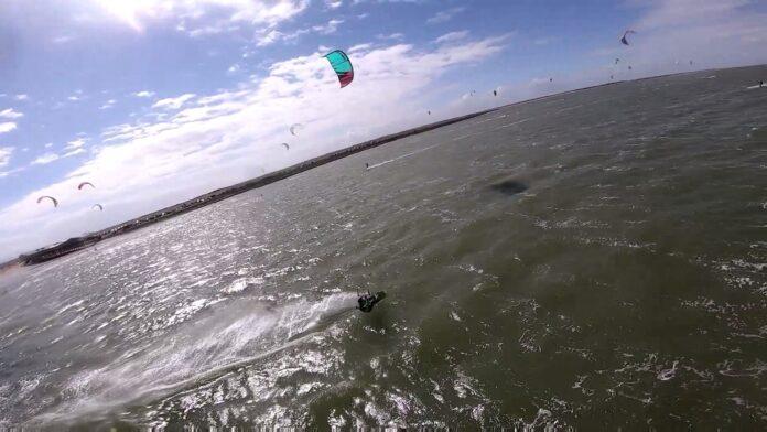 Kitesurfen in de winter, gevoelstemperatuur