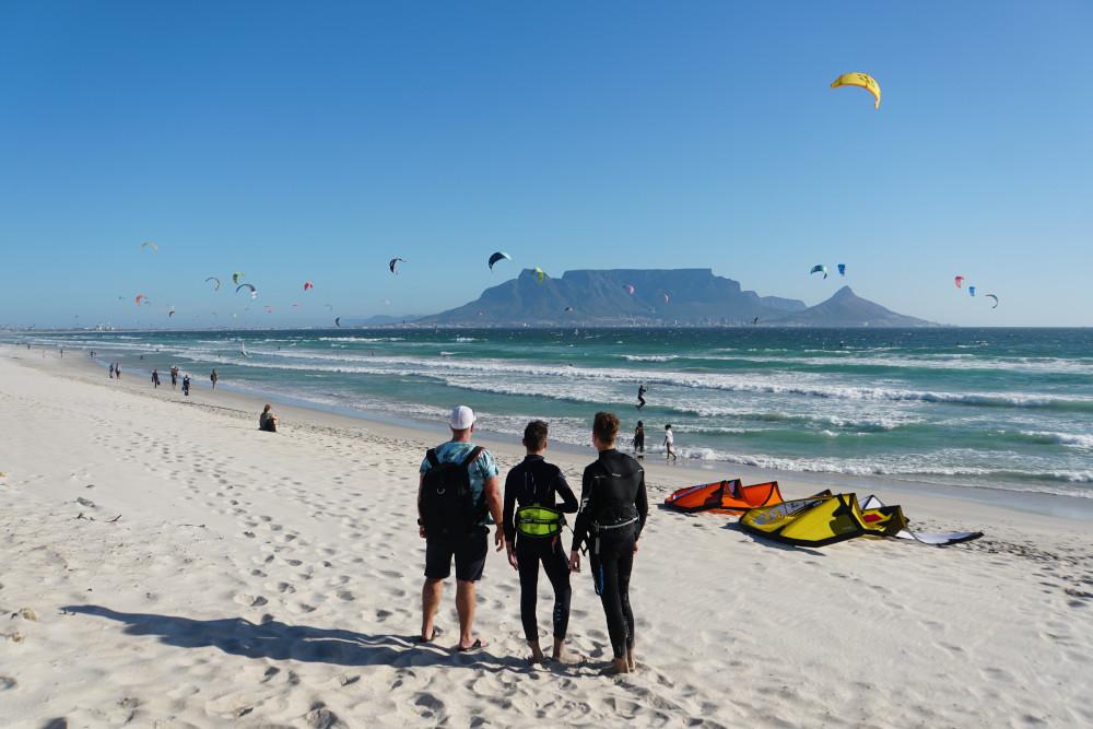 Jamie is Zuid-Afrika dankzij kitesurf-reisbureau Kitereisen.com.