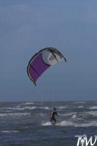 Leren kitesurfen - Eerste meters varen