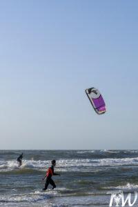 Eerste meters kitesurfen